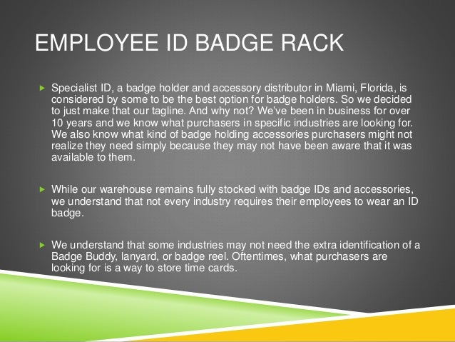 Finding The Right Employee ID Badge Rack