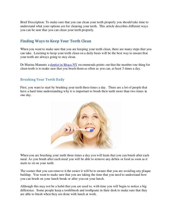 Brief Description: To make sure that you can clean your teeth properly you should take time tounderstand what your options...