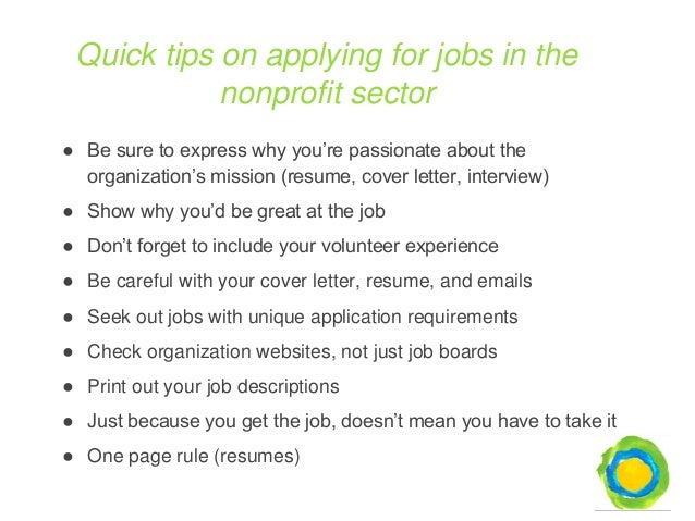 cover letter for non profit jobs