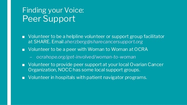 Topic Driven Round Table On Ovarian Cancer Finding Your Voice