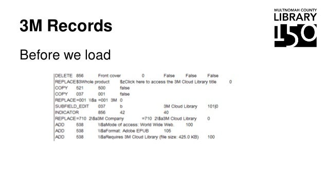 3M Records Before we load