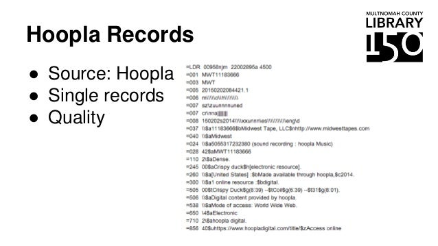 Hoopla Records ● Source: Hoopla ● Single records ● Quality