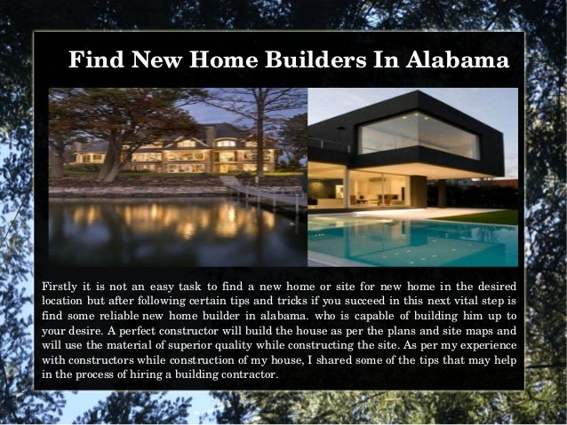 Find new home builders in alabama for Find a home builder