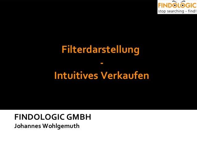 FINDOLOGIC GMBH Johannes Wohlgemuth Filterdarstellung - Intuitives Verkaufen