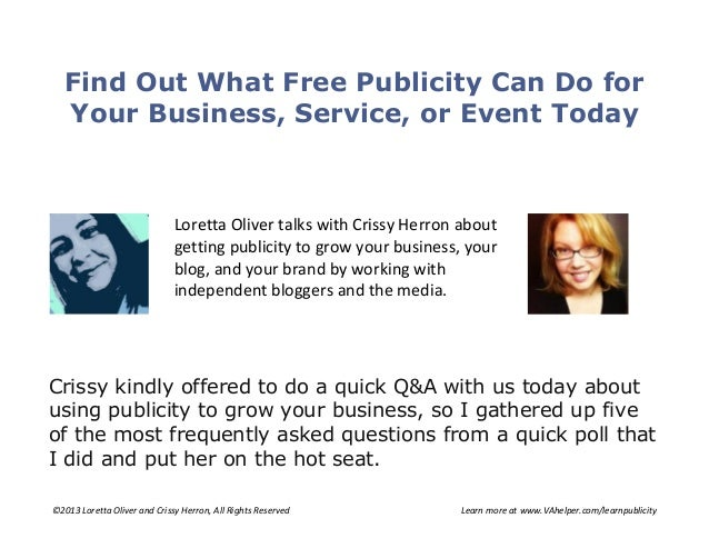 Find out what free publicity can do for your business