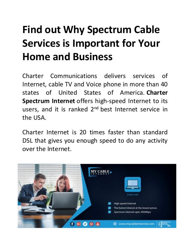 Charter Phone Service >> Find Out Why Spectrum Cable Services Is Important For Your