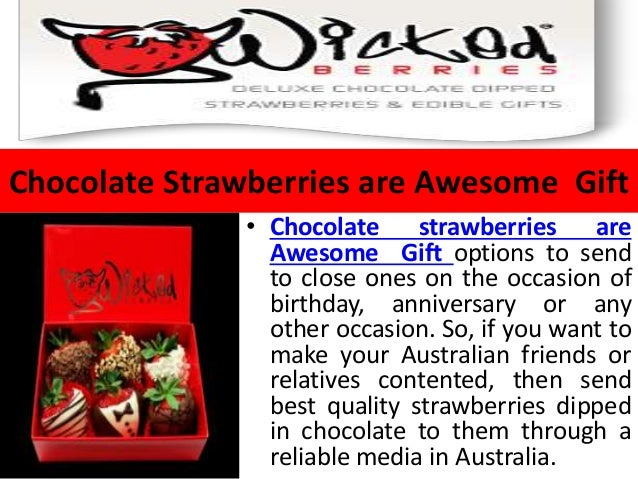 3. Chocolate Strawberries are Awesome Gift ...