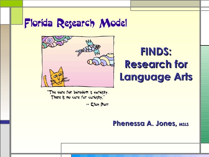 Phenessa A. Jones,  MSLS FINDS: Research for Language Arts