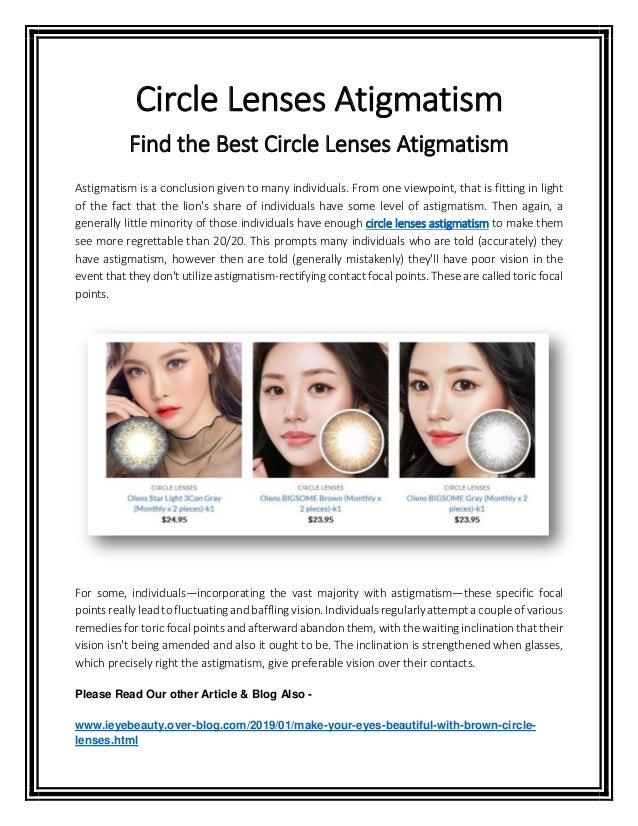 Find the Best Circle Lenses Atigmatism