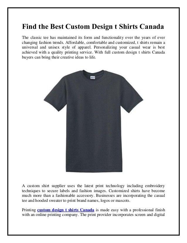 t shirt printing online canada