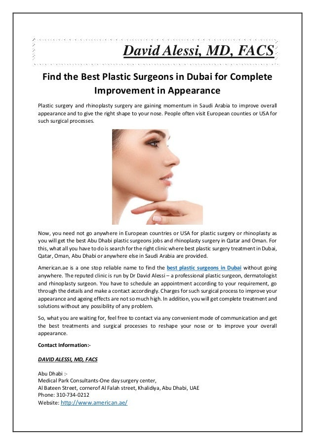 Find the Best Plastic Surgeons in Dubai for Complete
