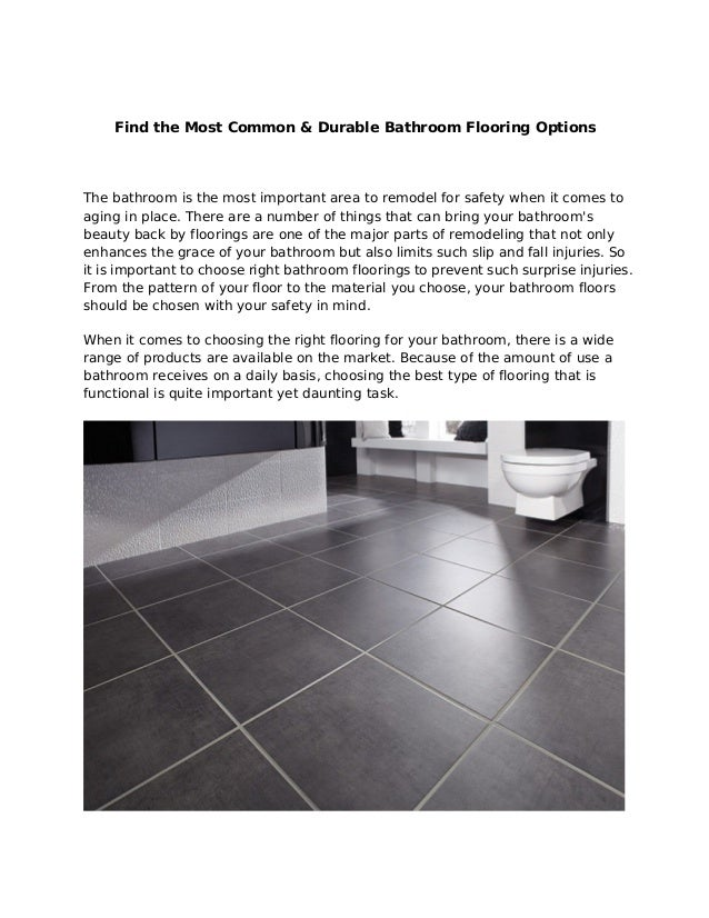 Find The Most Common And Durable Bathroom Flooring Options