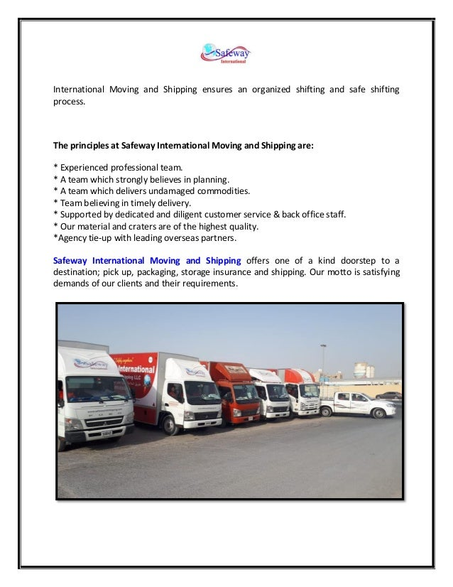 Find the Right Shipping Companies in Dubai   Safeway Intl