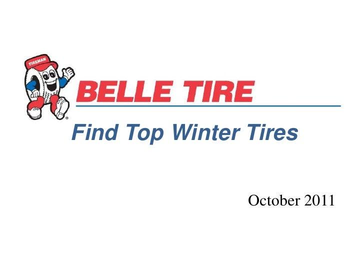 Find Top Winter Tires                October 2011