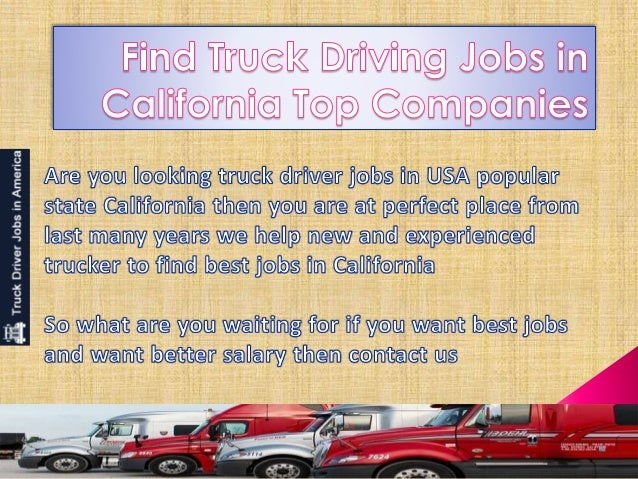Find Truck Driving Jobs In California Top Companies