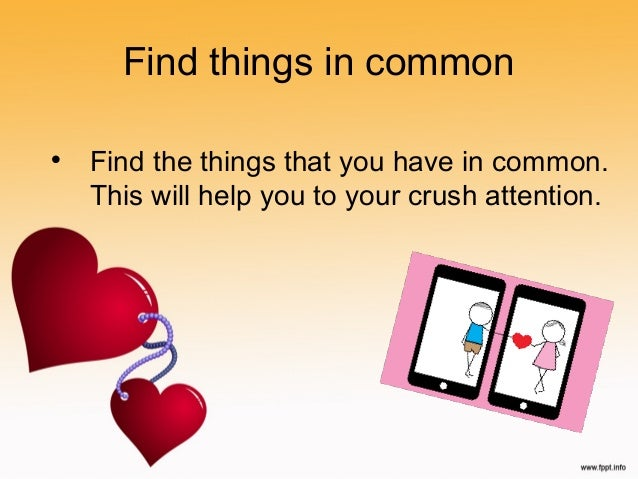 Dating things in common
