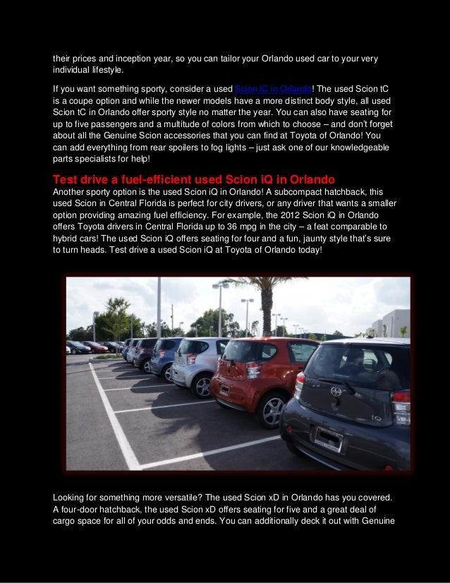 Find used Scion in Orlando at our Toyota Scion dealership ...