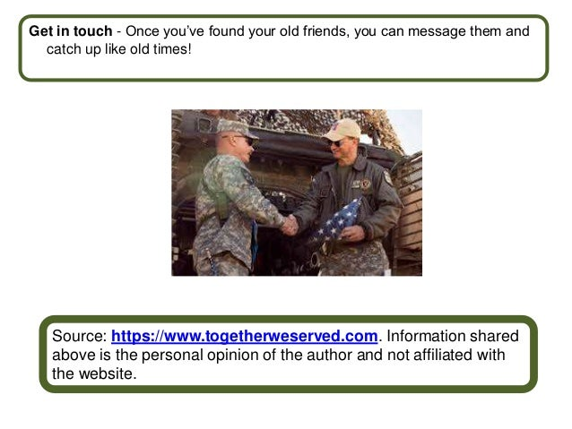 Find old army friends