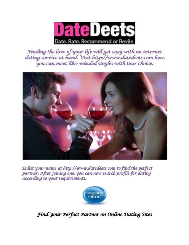 Perfecte dating site profiel