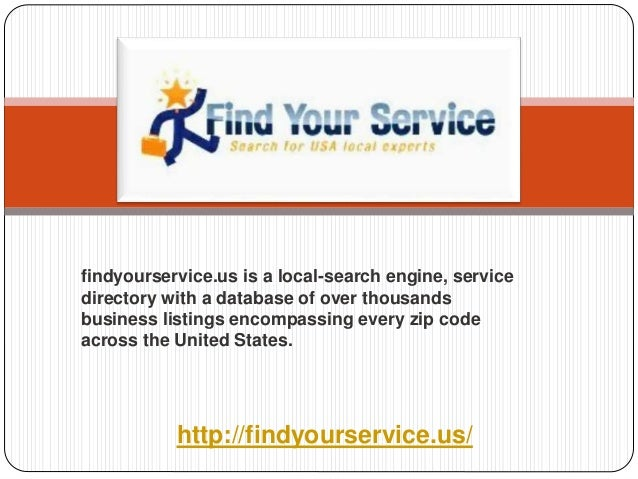 local-search engine, service directory with a database