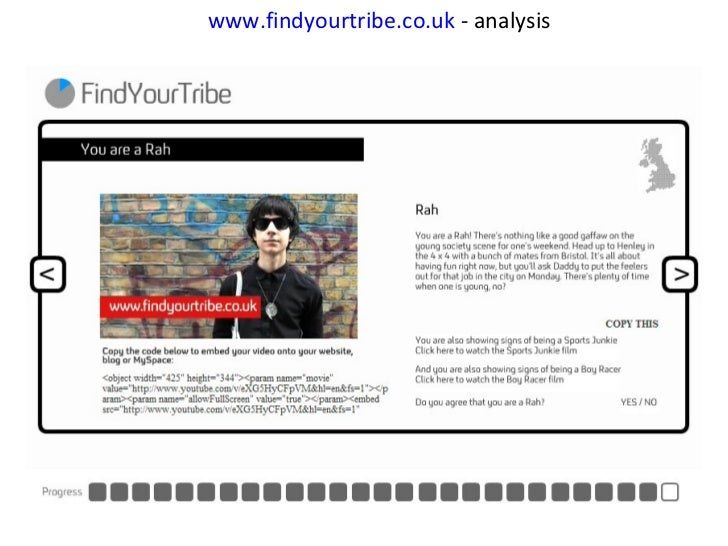 www.findyourtribe.co. uk  - analysis