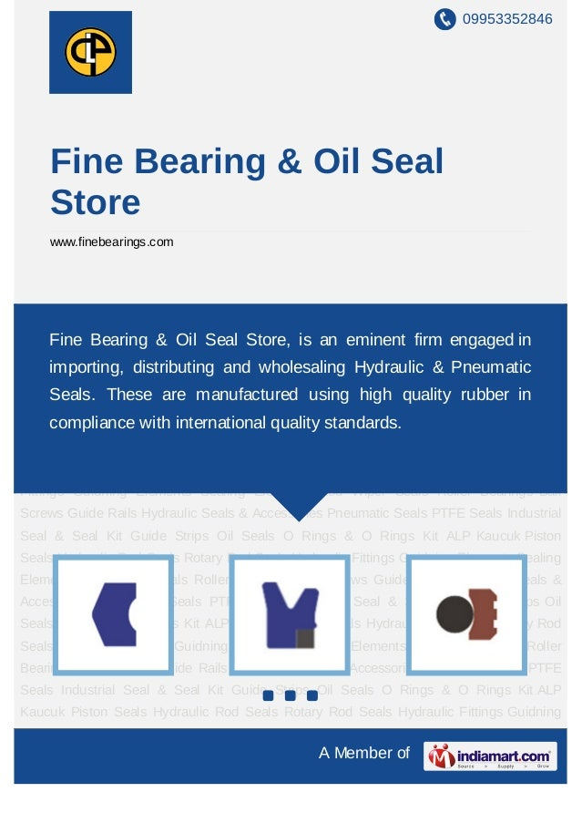 09953352846    Fine Bearing & Oil Seal    Store    www.finebearings.comPiston Seals Hydraulic Rod Seals Rotary Rod Seals H...