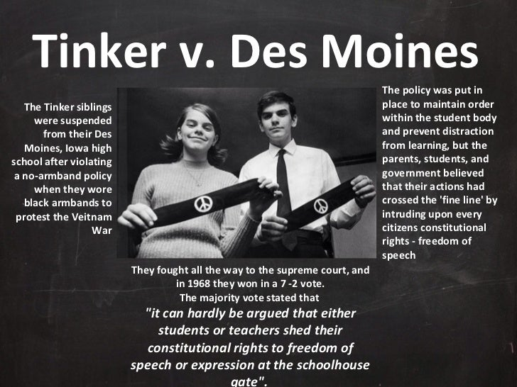 Who won tinker vs des moines