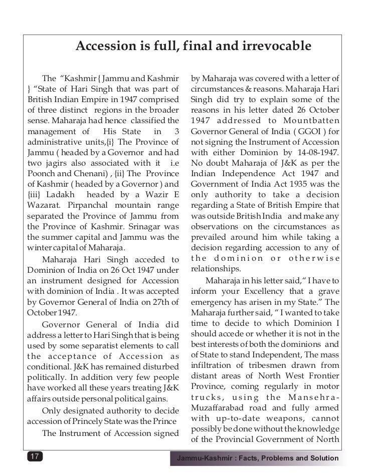 Best essay on kashmir issue