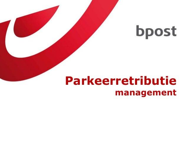 Parkeerretributie management  25-02-2014 Brussel