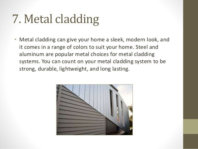 Different Types Of Wall Cladding : Types of cladding