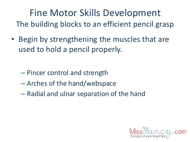 Fine Motor Foundations For Handwriting Success