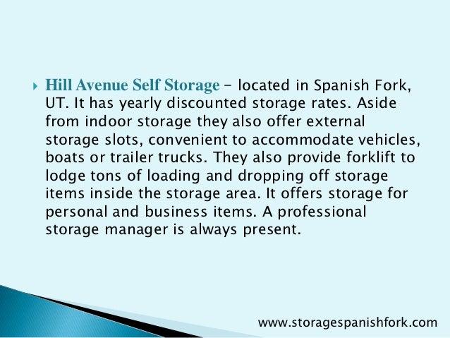 A professional storage manager is always present. .storagespanishfork.com; 9.  sc 1 st  SlideShare & Finest and affordable self storage units in spanish fork utah