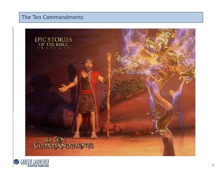 The Ten Commandments                            5