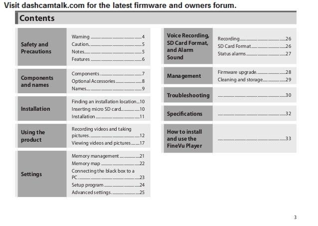 FineVu CR500HD User Manual
