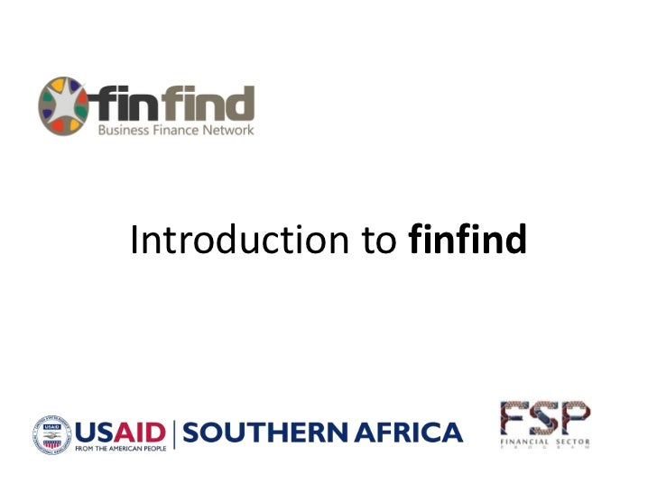 Introduction to finfind<br />