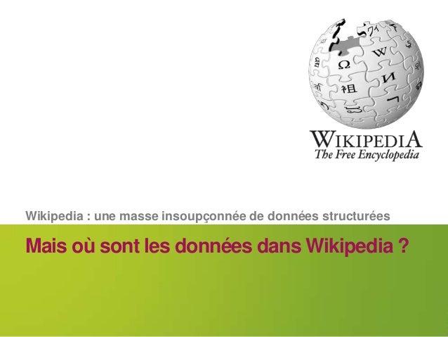 Wikidata : quand Wikipédia s'intéresse aux données Slide 2