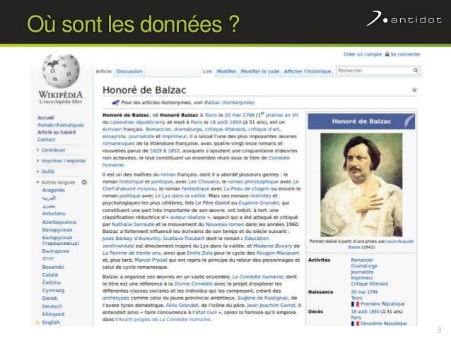 Wikidata : quand Wikipédia s'intéresse aux données Slide 3