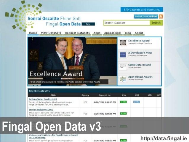 Fingal Open Data v3                      http://data.fingal.ie