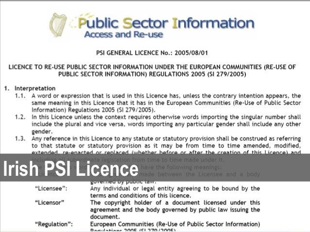 Irish PSI Licence