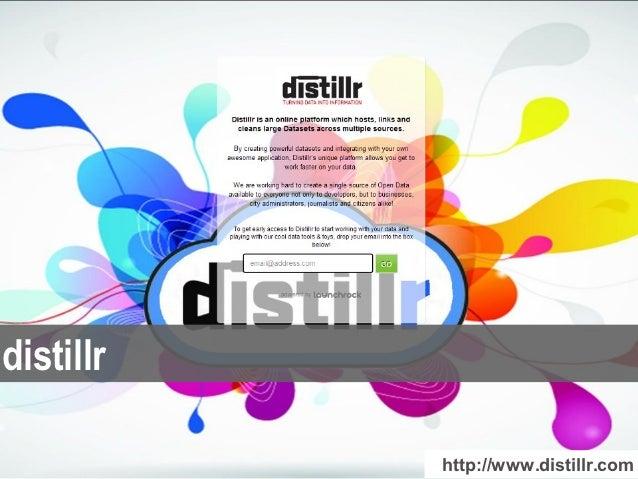 distillr           http://www.distillr.com
