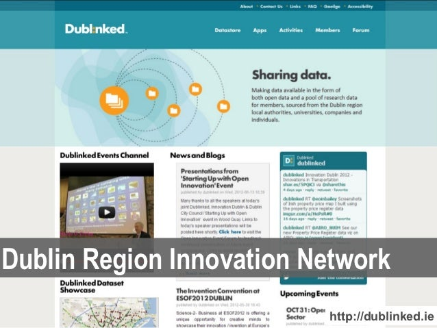 Dublin Region Innovation Network                           http://dublinked.ie