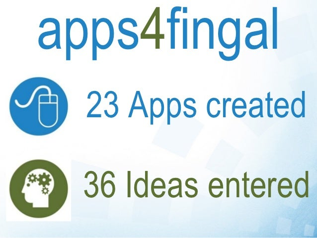 apps4fingal  23 Apps created  36 Ideas entered