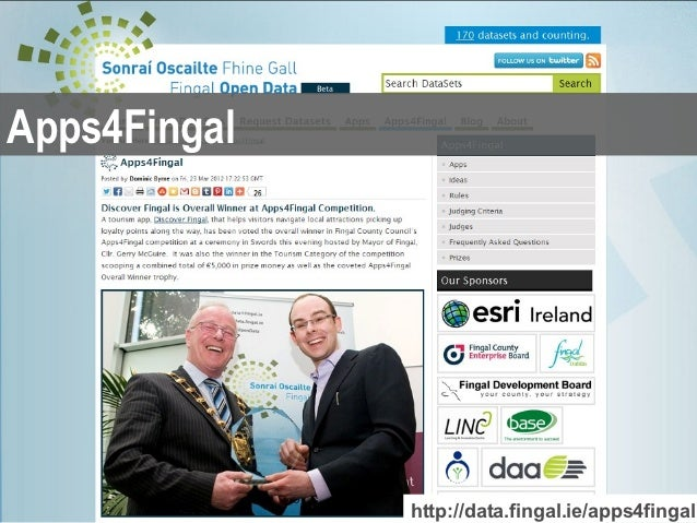 Apps4Fingal              http://data.fingal.ie/apps4fingal