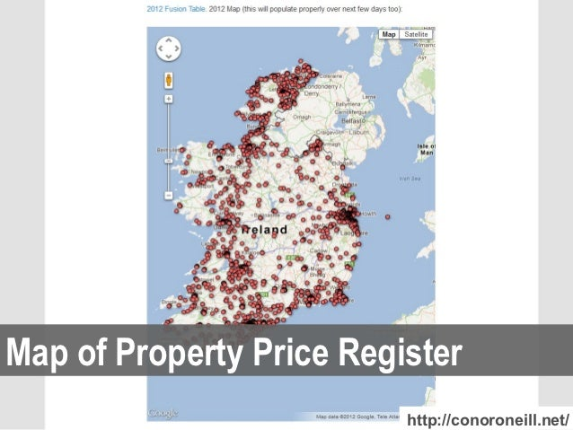 Map of Property Price Register                          http://conoroneill.net/