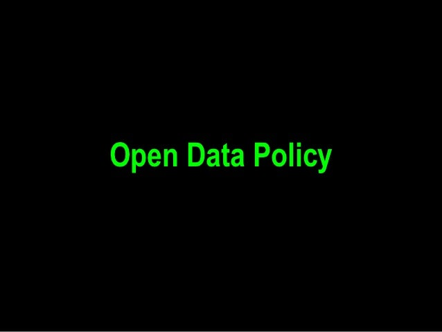 Open Data Policy