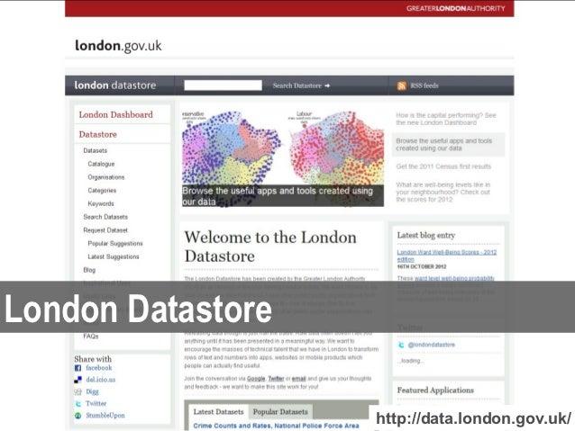 London Datastore                   http://data.london.gov.uk/