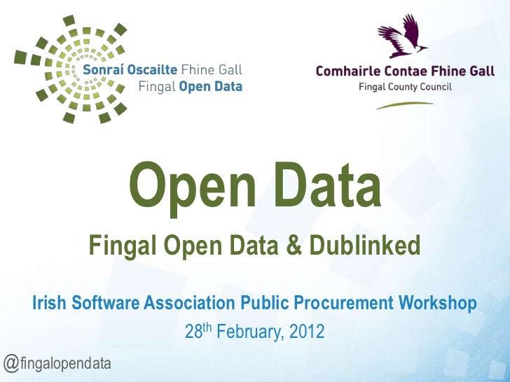Open Data Business Opportunities - Fingal Open Data & Dublinked