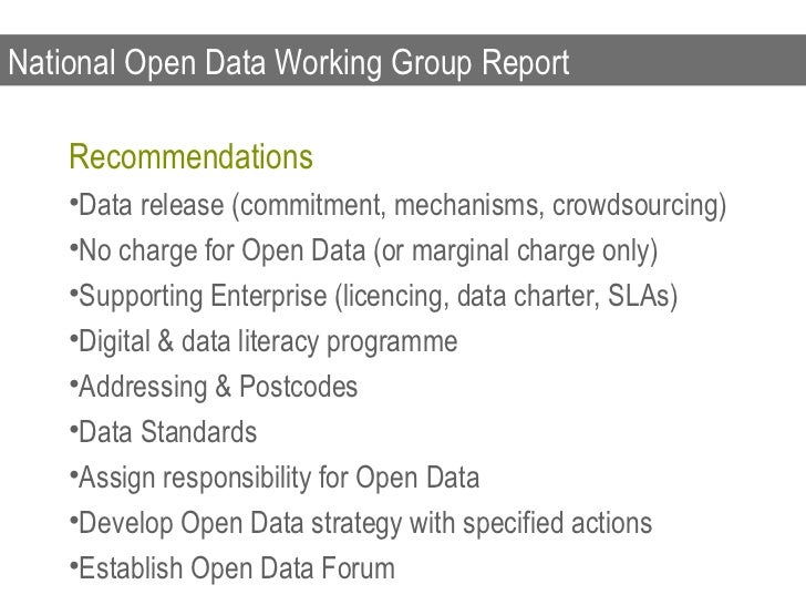 Public Service Reform Plan    Open Data related Actions    •Publish Public Sector Data Online    •Create a Centralised Por...