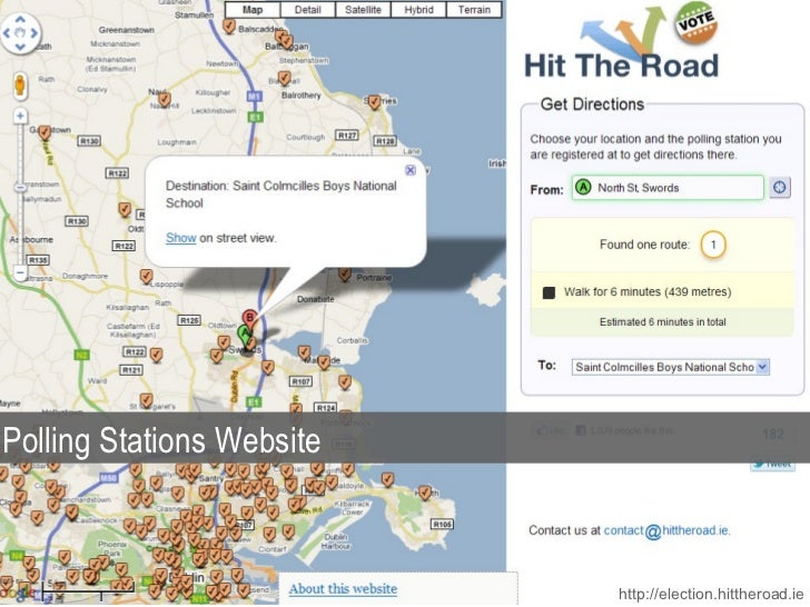 http://election.hittheroad.ie Polling Stations Website