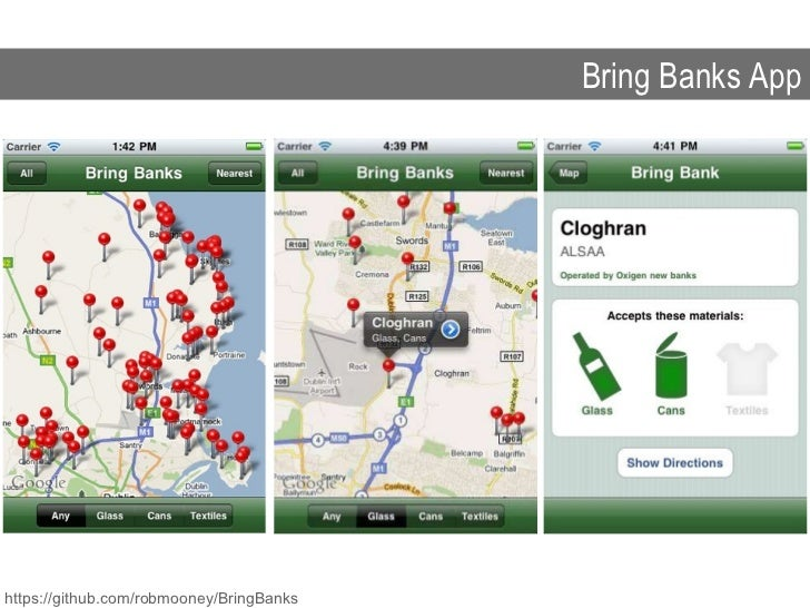 Bring Banks App https://github.com/robmooney/BringBanks